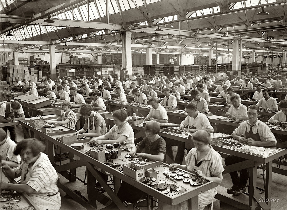 the early development of the factory The development of the spinning machine by sir richard arkwright in england led directly to characteristics of early factory girls ask history who were the.