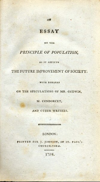Malthus 'An Essay on the Principle of Population'