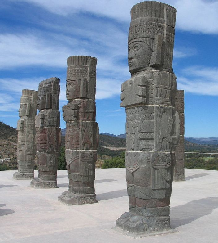 Toltec Warrior Statues at Tula