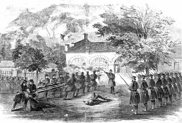 United States Marines attacking John Brown's 'Fort'.