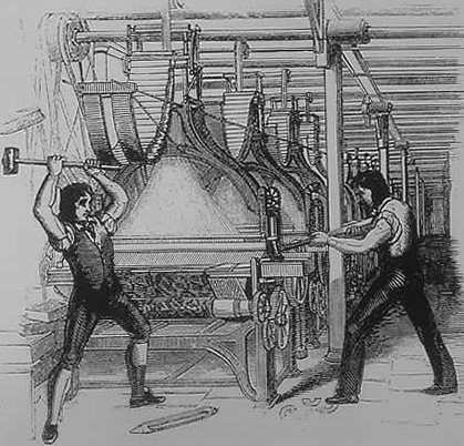 Luddites in the Industrial Revolution