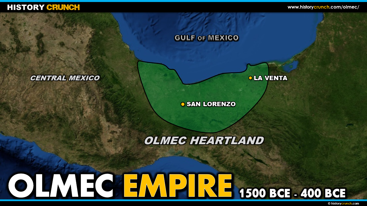 Map of the Olmec Empire