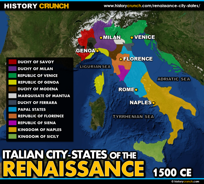 Map of the Renaissance City-States